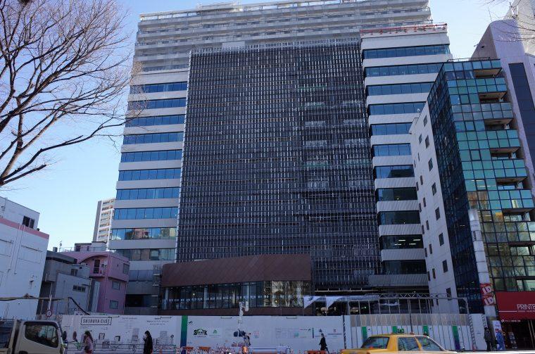 賃貸住宅「渋谷キャストアパートメント」建設中外観